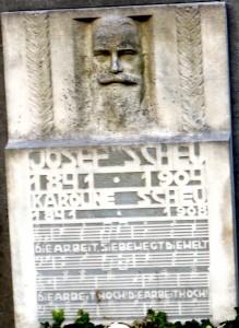 Josef Scheu - Grabinschrift