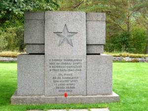 Jugoslawische Gedenkstätte in Botn - klein